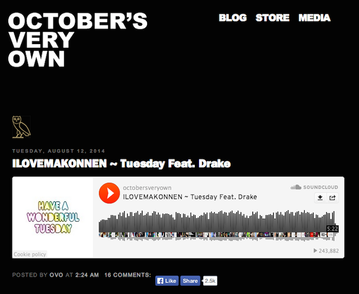 Drakes Shares Makonnen Tuesday Remix